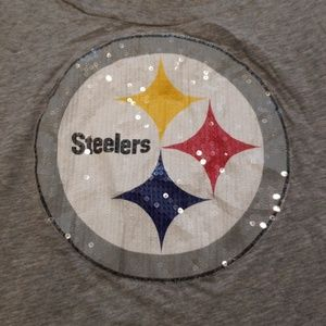 Sequined Pittsburgh Steelers PINK T-shirt